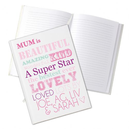 Personalised She Is Hardback Notebook